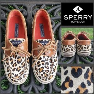 Sperry Top-Sider  Leopard Pony Hair Boat Shoes